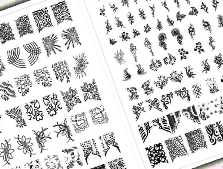 37 Printable Nail Design Stencils StylePics