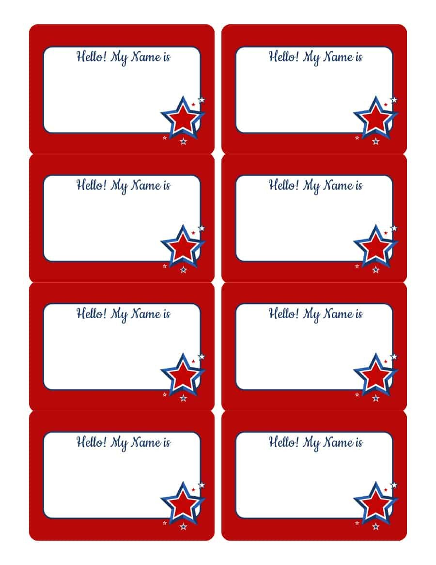 Printable Name Tag Template 47 Free Name Tag Badge Templates Template Lab