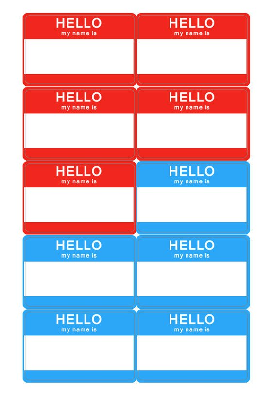 Printable Name Tag Template Name Tag Template