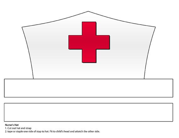 DIGITAL DOWNLOAD Paper Nurse s Hat Printable