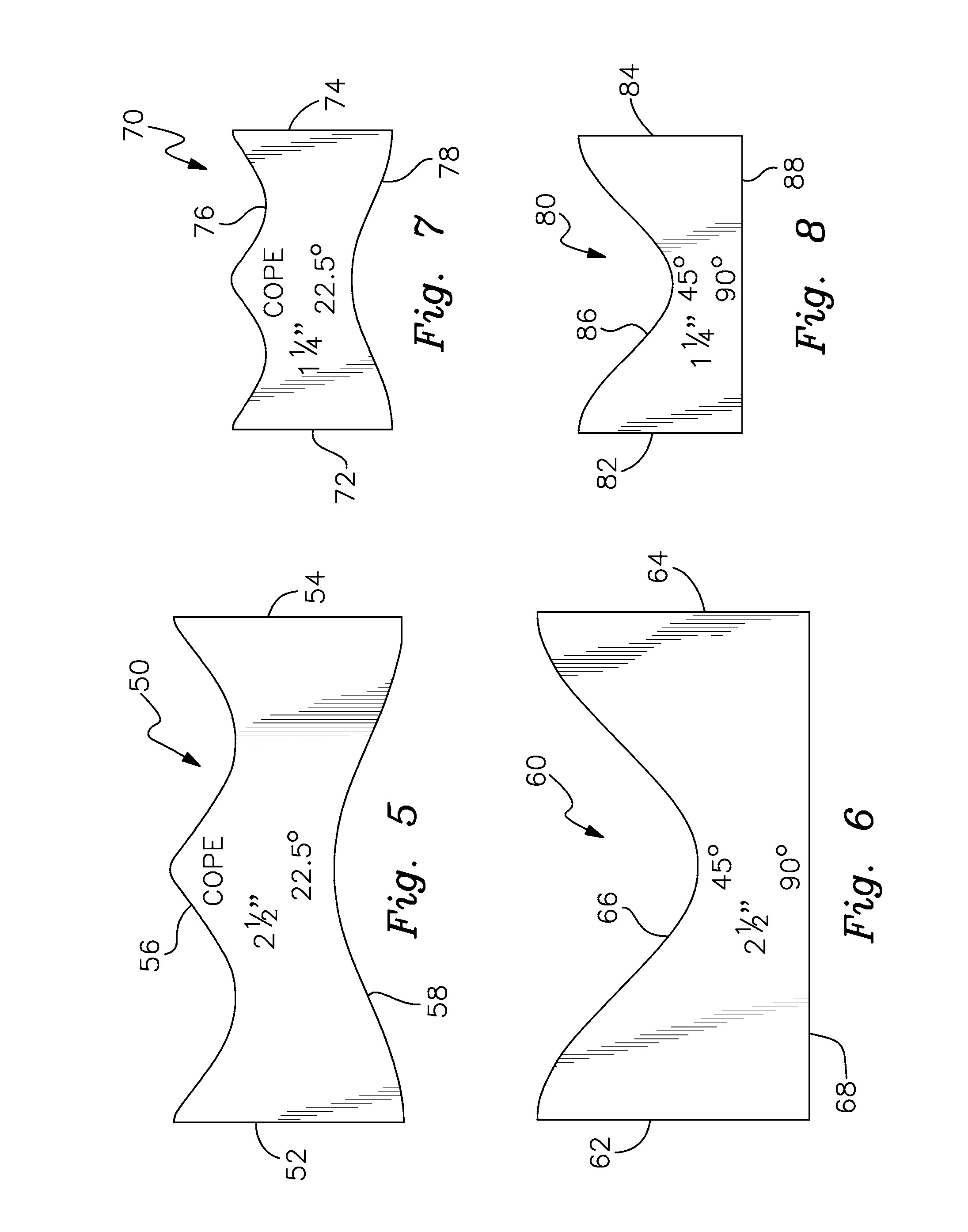 Printable Pipe Saddle Templates Patent Us Self Retaining Pipe Cutting Template