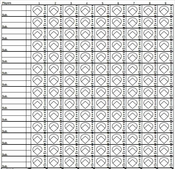 Printable softball Score Sheet Sample softball Score Sheet 10 Documents In Pdf Word