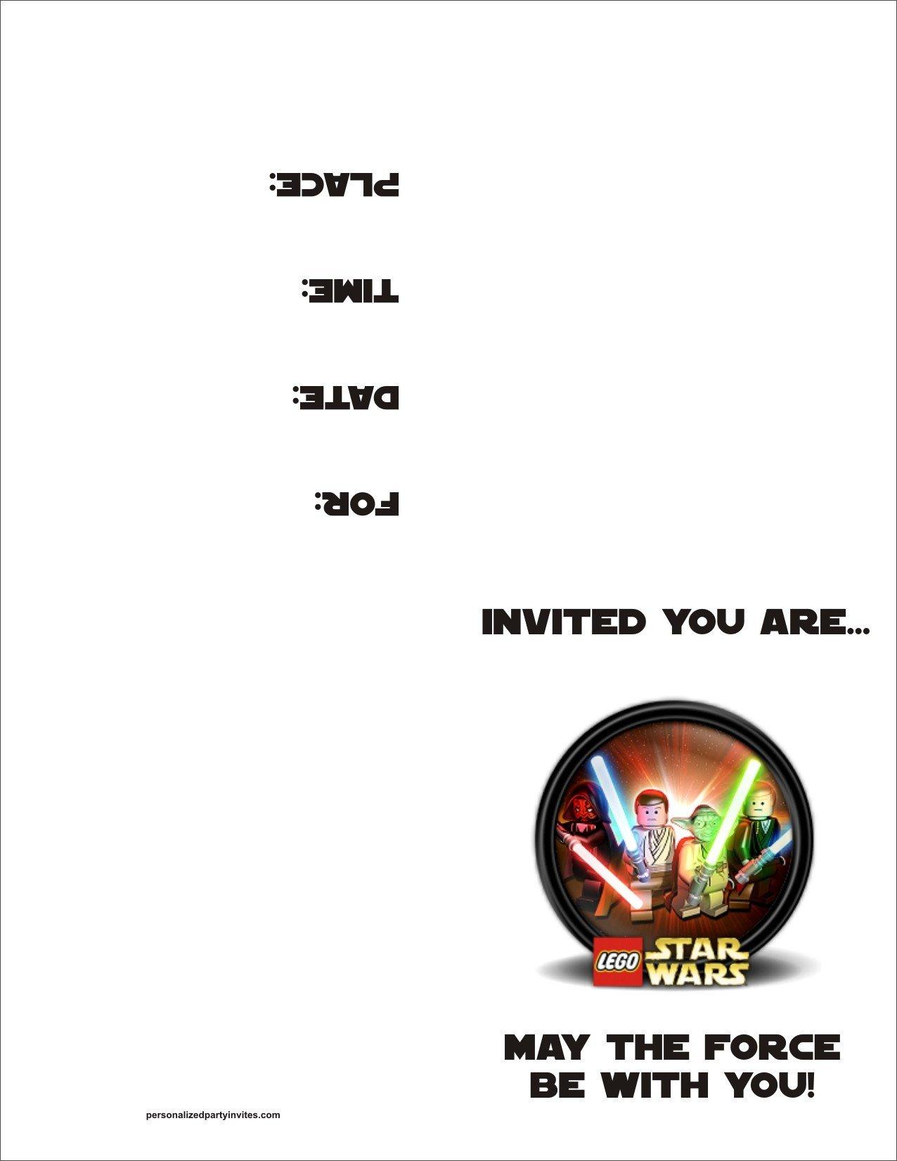 Printable Star Wars Invitation Lego Star Wars Free Printable Birthday Party Invitation
