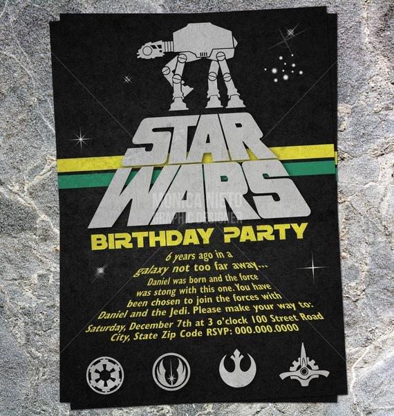 Printable Star Wars Invitation Printable Star Wars Inspired Birthday Invitation Baby Shower