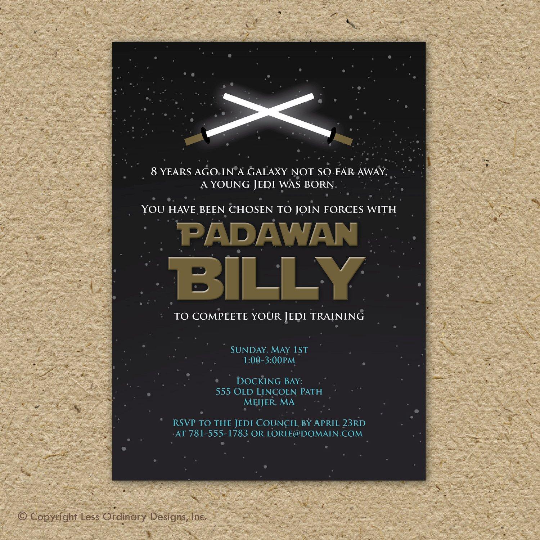 Printable Star Wars Invitation Star Wars Birthday Party Invitation Printable by