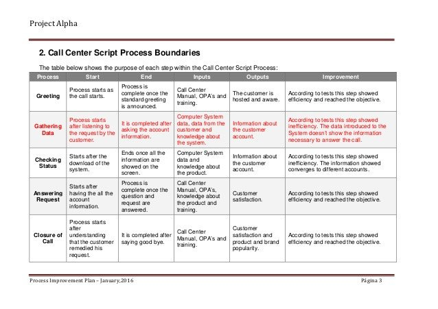 Process Improvement Plan Templates Alpha Case Study Process Improvement Plan Sample