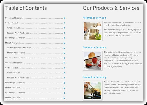 Free Product Catalog Template Word