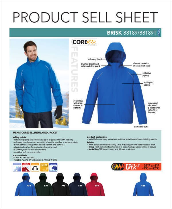 Product Sell Sheet Template 44 Sheet Templates