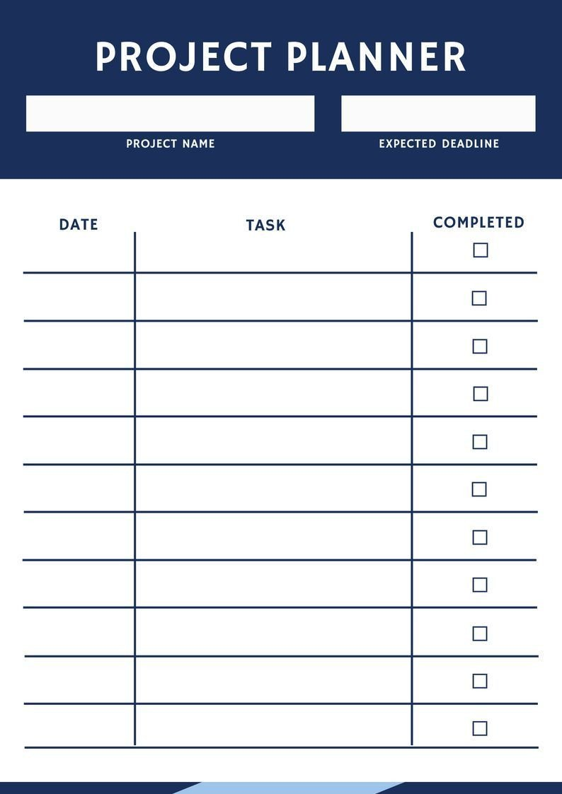 Project Management Schedule Template October 2018 Daily Project Planner Planner