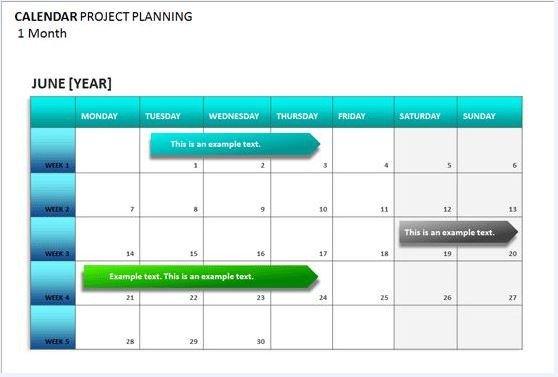 Project Management Schedule Template Project Calendar Template