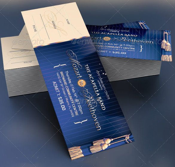 115 Ticket Templates Word Excel PDF PSD EPS