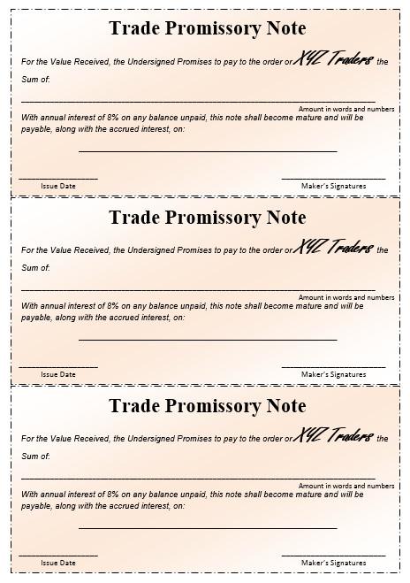 Promissory Note Template Microsoft Word 43 Free Promissory Note Samples & Templates Ms Word and