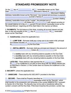 Promissory Note Template Microsoft Word Free Promissory Note Template Adobe Pdf & Microsoft Word
