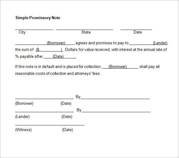 Promissory Note Template Microsoft Word Promissory Note 26 Download Free Documents In Pdf Word