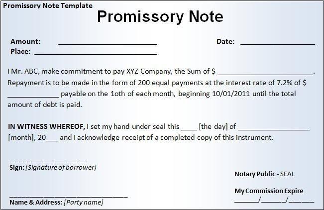 Promissory Note Template Microsoft Word Promissory Note Template Free Word Templatesfree Word