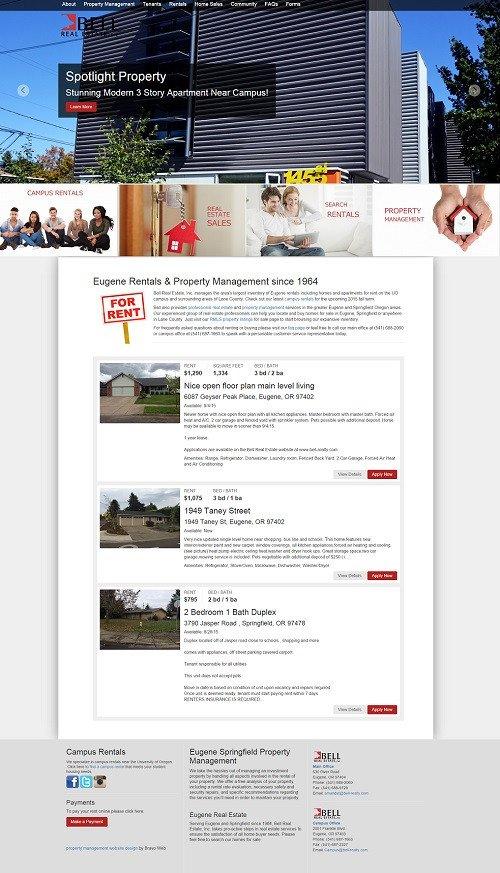 Property Management Website Design Templates Maintenance