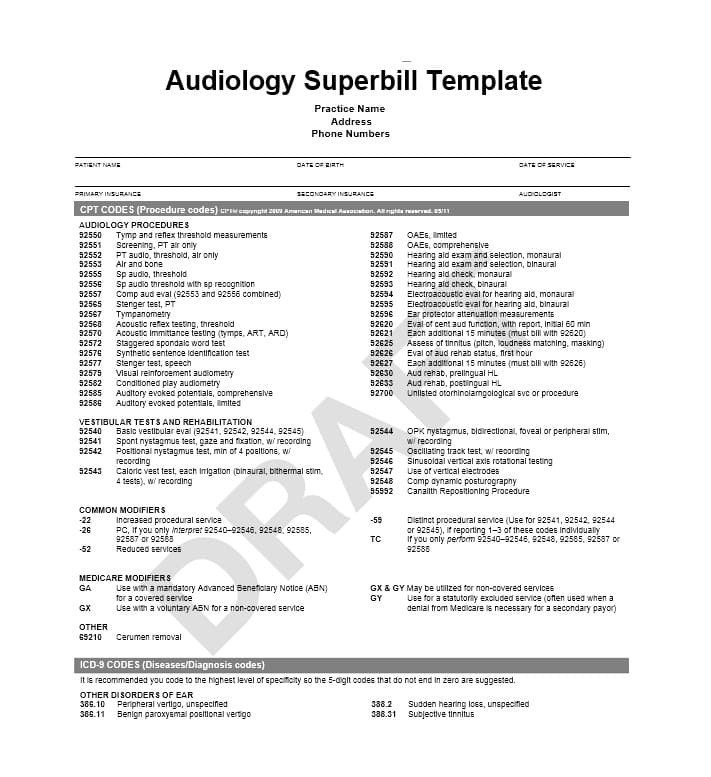 Psychotherapy Superbill Template 49 Superbill Templates Family Practice Physical therapy