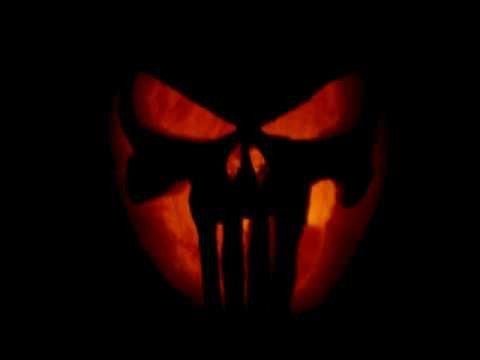 punisher skull jack o lantern