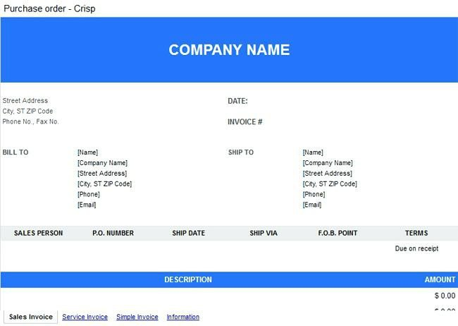 purchase order template google docs – socbran
