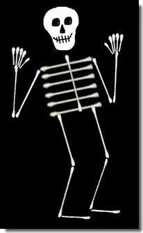 Q Tip Skeleton Head Template Gettin Skooled