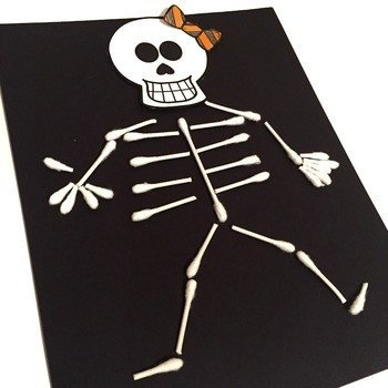 Q Tip Skeleton Head Template Q Tip Skeleton Free by Teaching In the tongass