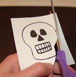 Q Tip Skeleton Head Template Q Tip Skeleton