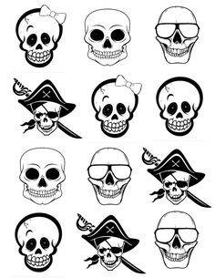 Q Tip Skeleton Head Template Teaching Science On Pinterest