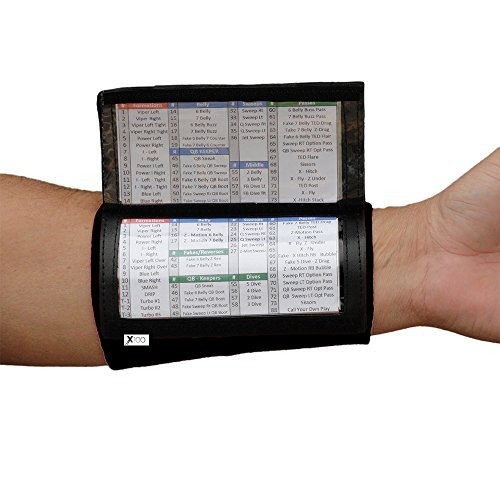 Qb Wrist Coach Template Quarterback Playbook Football Wristband Triple Window
