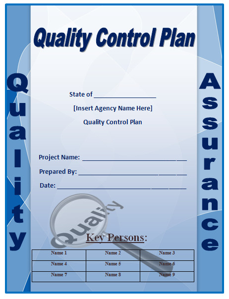 Quality Control Plans Templates Quality Control Plan Template Microsoft Word Templates