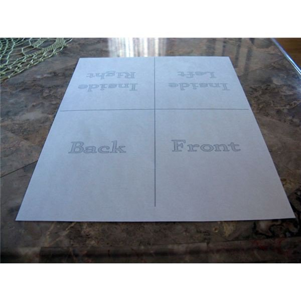 Creating Your Own Quarter Fold Printable Cards