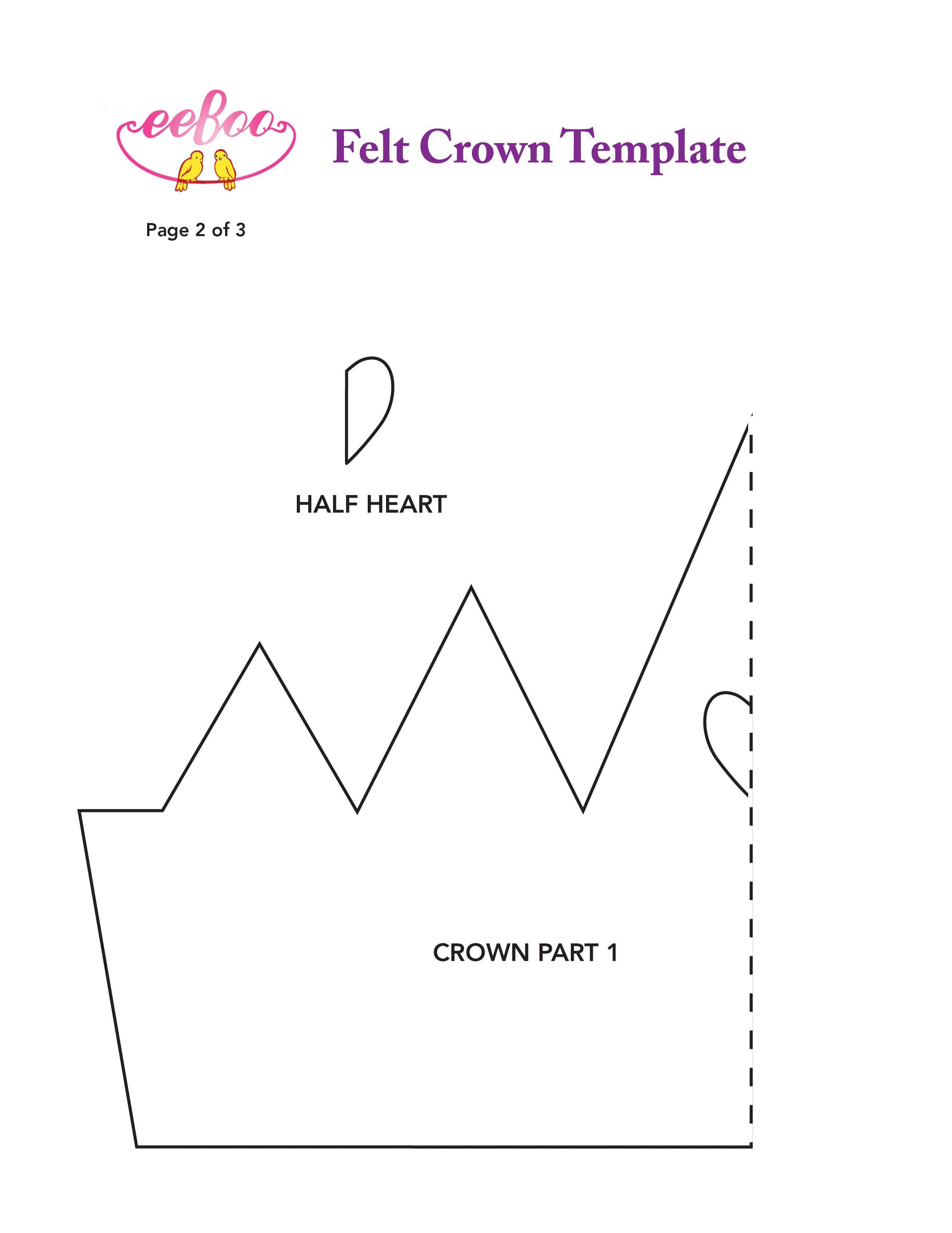 Queen Of Hearts Crown Template Eeboo Studio Blog Archive Mother's Day Crafts From Eeboo