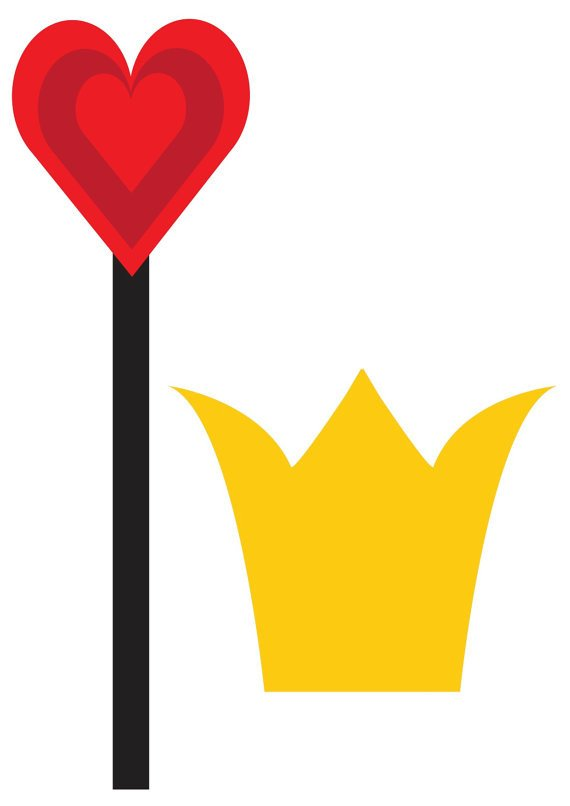 Queen Of Hearts Crown Template You are In Good Pany Good Plan Alice Booth Props