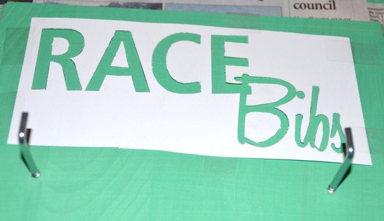 Race Bib Template Free Word Running for the Medal