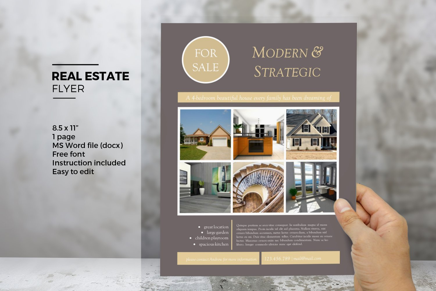 Real Estate Flyer Template Word Ms Word Real Estate Flyer Template Flyer Templates