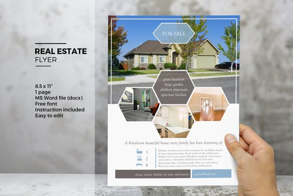 Real Estate Flyer Template Word Open Mic Flyer Word Template Designtube Creative