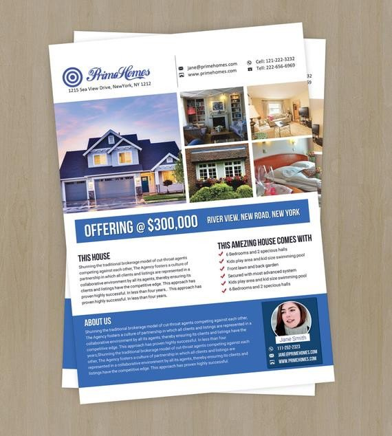 Real Estate Flyer Template Word Real Estate Advertising Flyer Template Editable In Ms Word