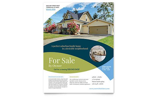 Real Estate Flyer Template Word Real Estate Flyer Templates Word & Publisher
