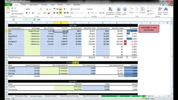 Real Estate Spreadsheet Templates Mercial Real Estate Spreadsheet Spreadsheet Downloa