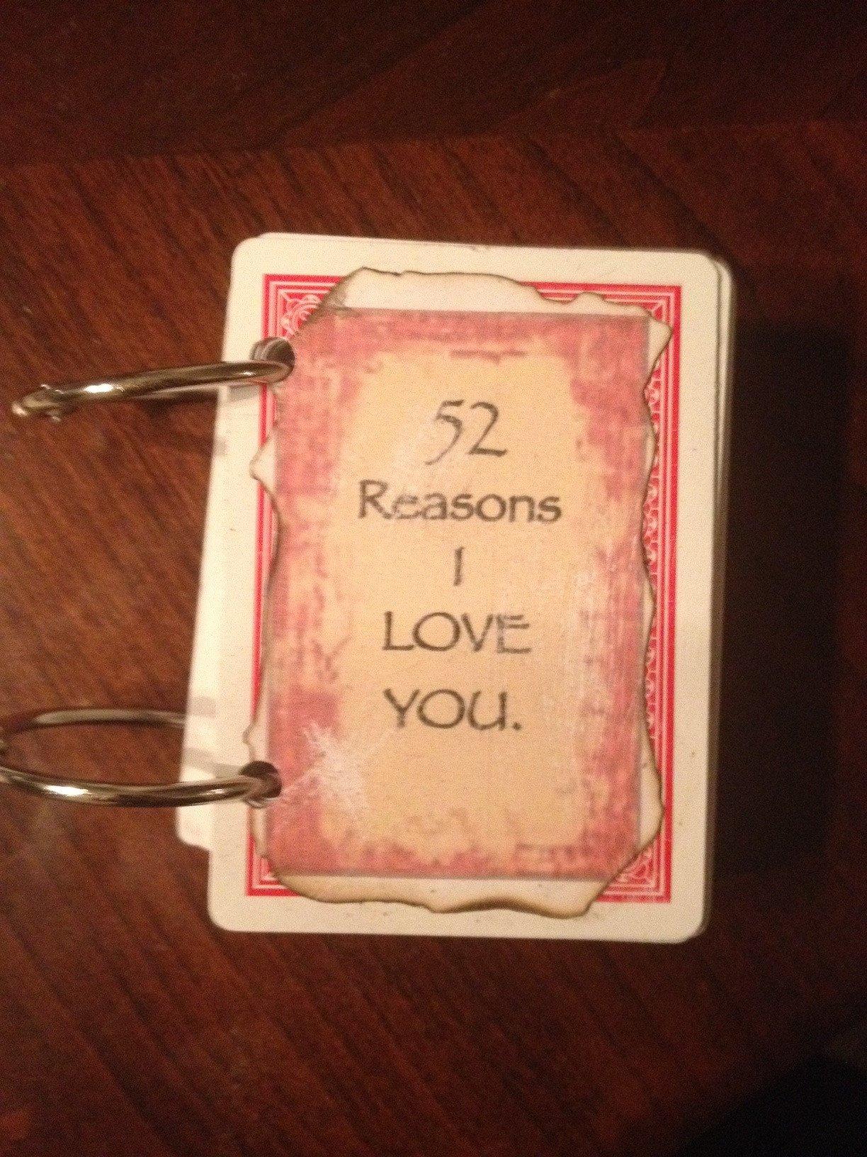 Reasons I Love You Template 52 Reasons I Love You