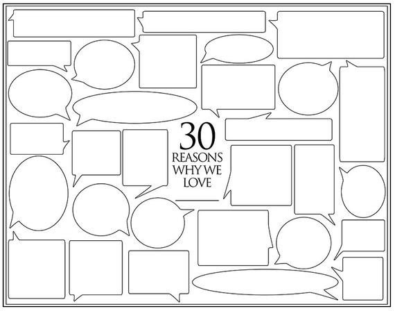Reasons I Love You Template Personalized Birthday Present 30 Reasons We Love You