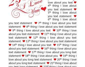 Reasons I Love You Template Reasons We Love You