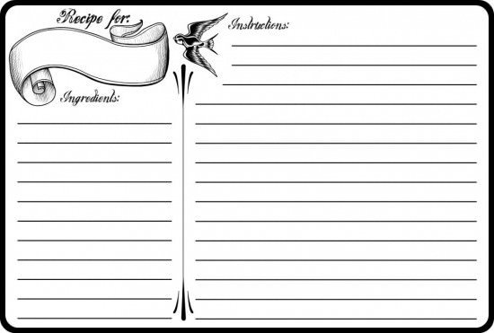 Recipe Template for Pages 40 Recipe Card Template and Free Printables – Tip Junkie