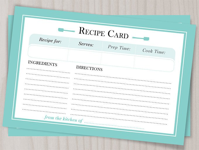 43 Amazing Blank Recipe Templates for Enterprising Chefs