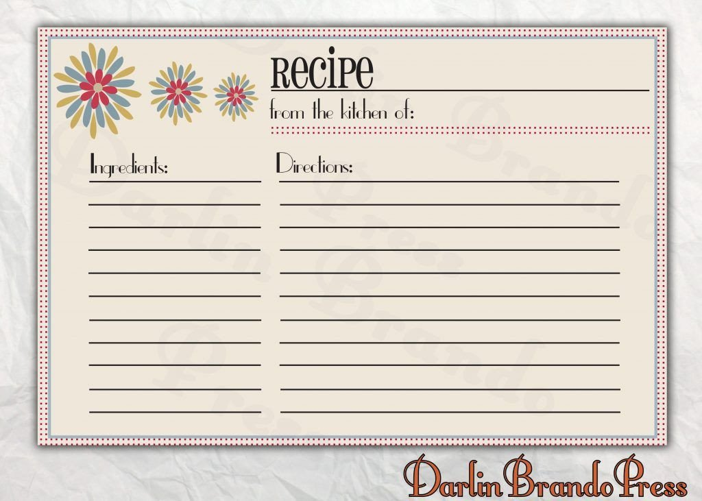 Recipe Template for Word Free Editable Recipe Card Templates for Microsoft Word