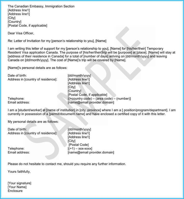 Recommendation Letter for Immigration Immigration Reference Letters 6 Samples & Templates