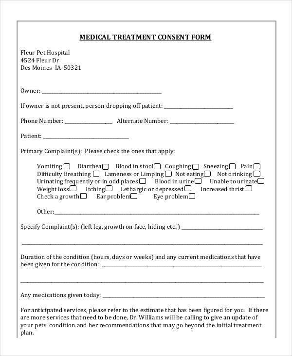 Refusal Of Treatment form Blank Medical forms 35 Free Documents In Word Pdf