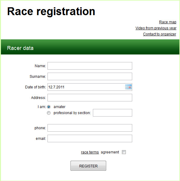 Registration form Template Free Registration form Template Free Download