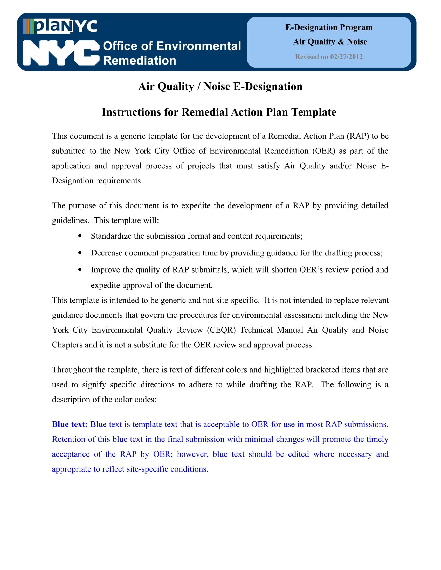 Remediation Action Plan Template 25 Action Plan Examples Doc