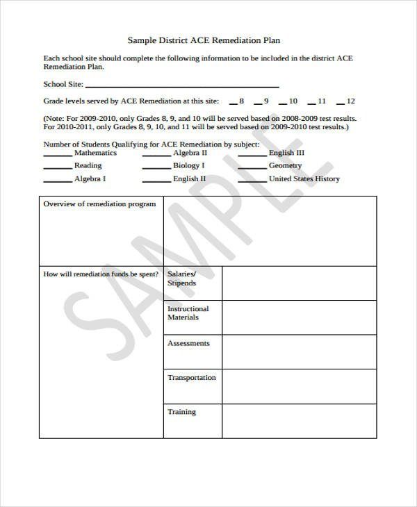 Remediation Action Plan Template Remediation Plan Template Excel