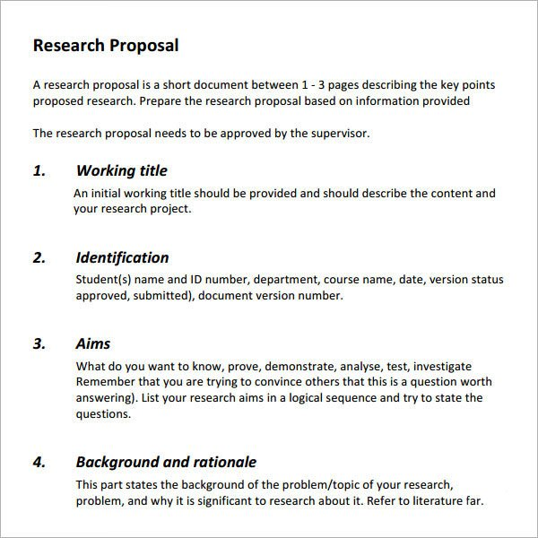 Research Paper Proposal Template Example Of Marketing Research Proposal Best and